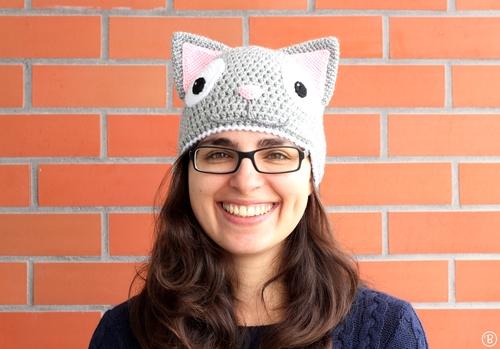 aa0cbda6cdb Cat Hat. Kitten crochet hat