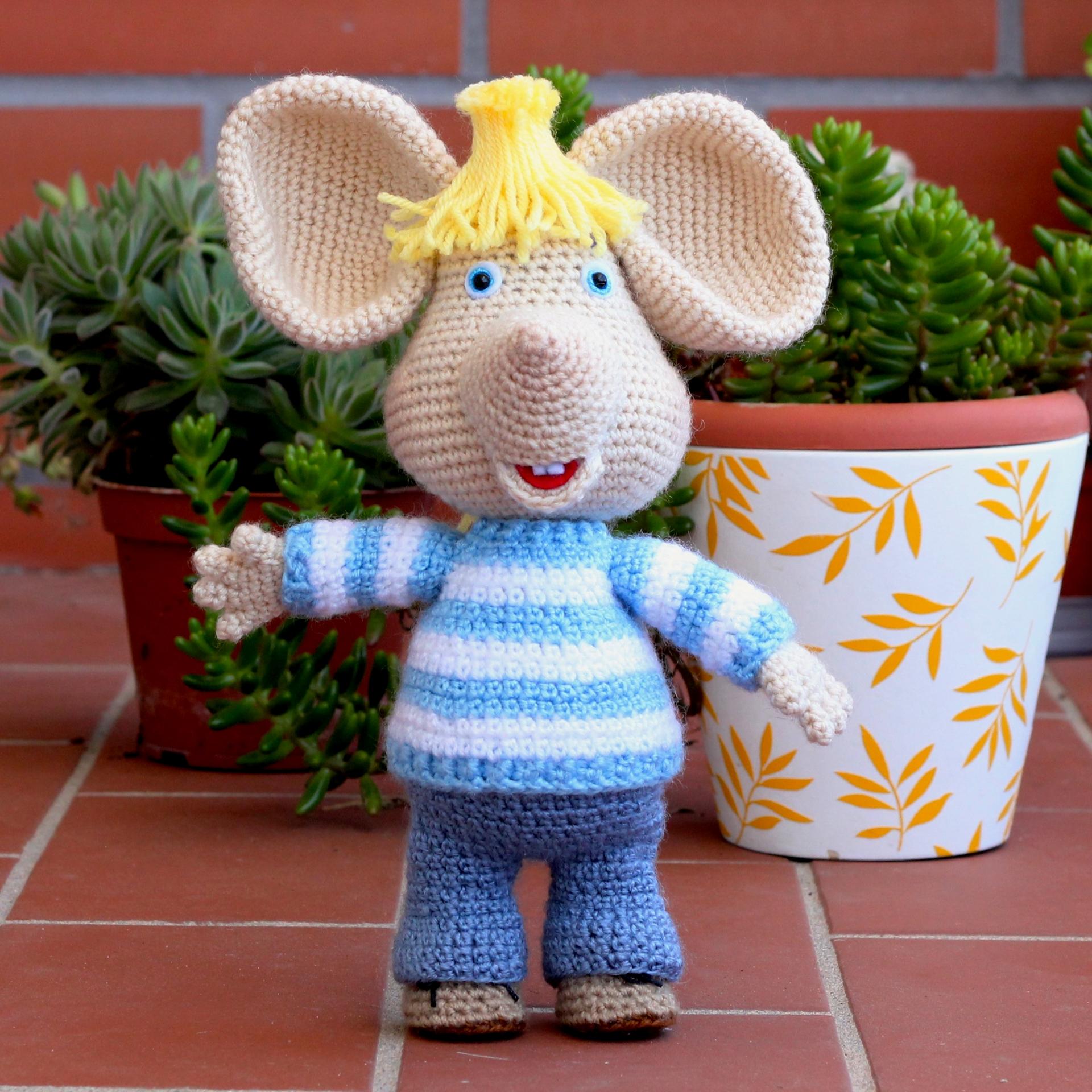 Albert il topo, mouse amigurumi fatto a mano, mouse all'uncinetto ... | 1920x1920