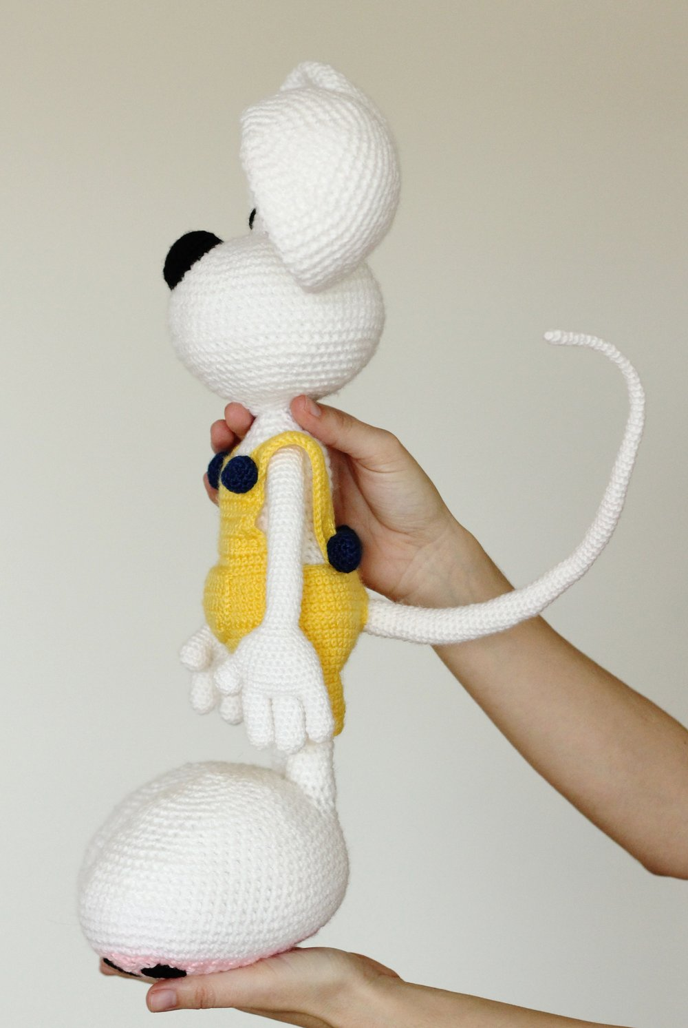 White mouse stuffed toy