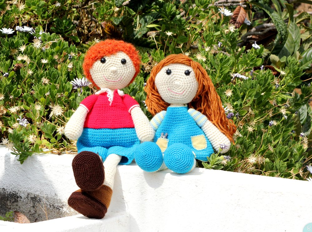 Boy and girl amigurumi