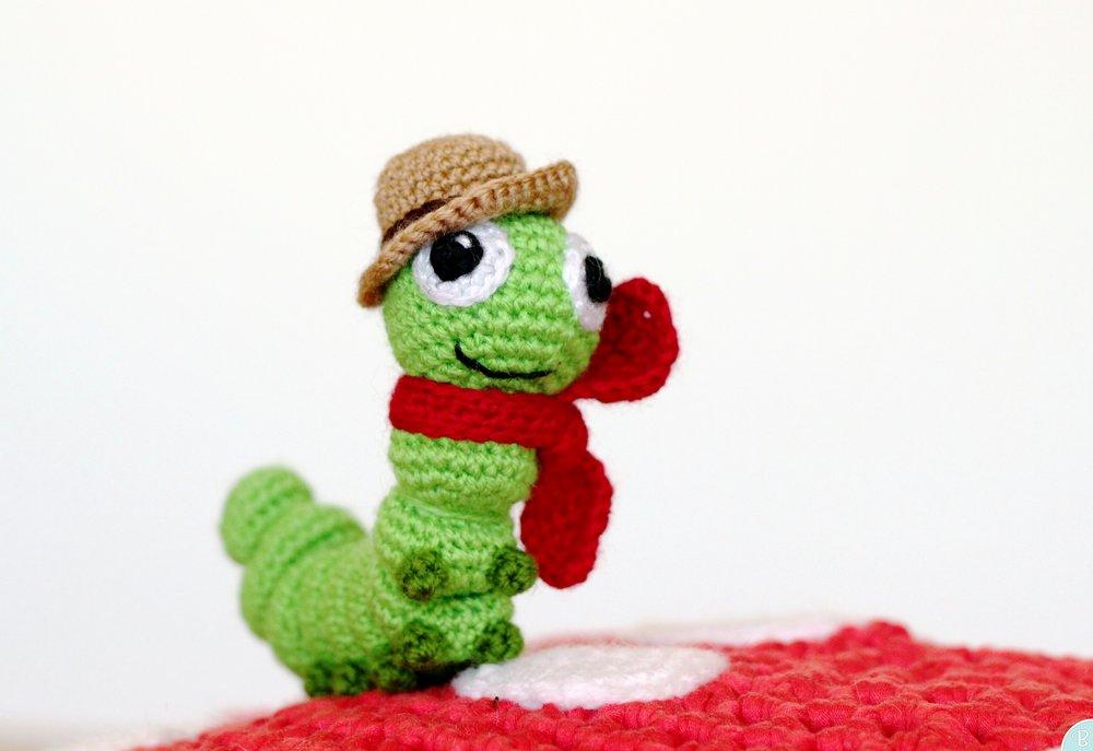 Ferdy amigurumi caterpillar