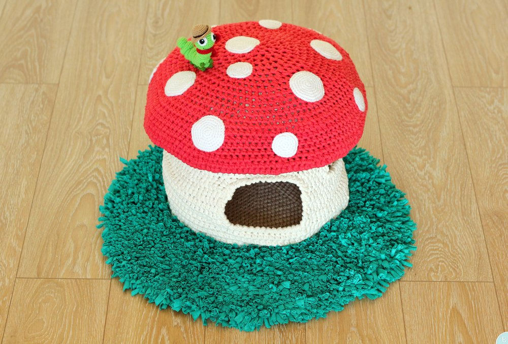 Mushroom pet bed pattern