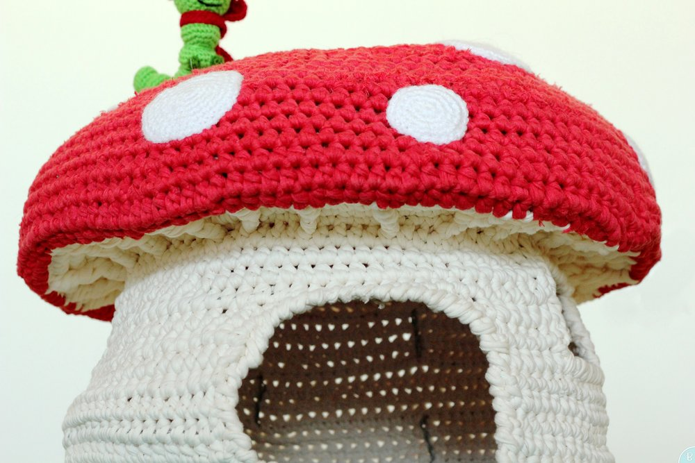 T-shirt yarn mushroom pattern