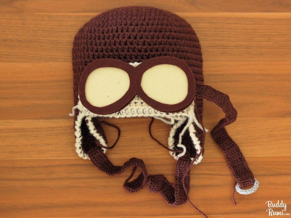 Pilot crochet hat