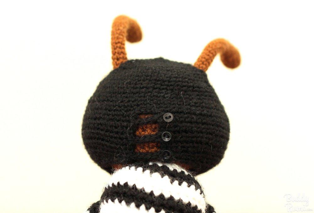 Crochet Robber Ant, Kasey Golden's original character