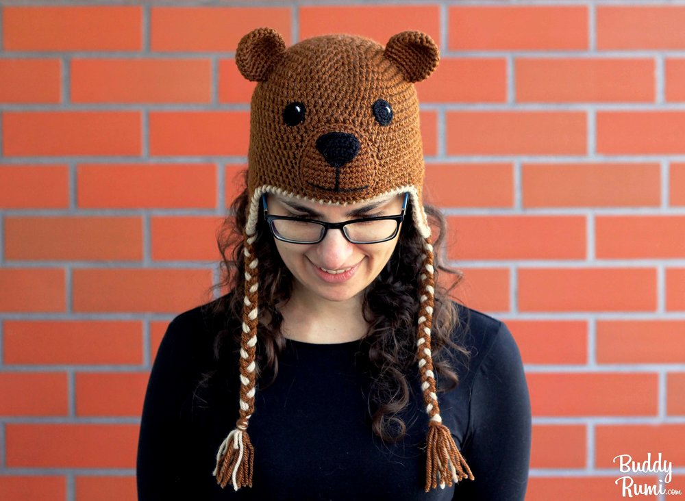 Bear Crochet Hat with earflaps