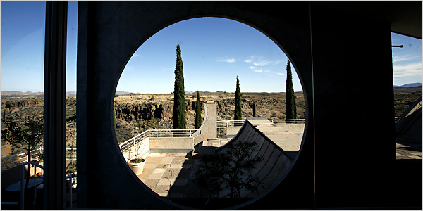 New York Times   Arcosanti, Arizona's never-finished experimental city.