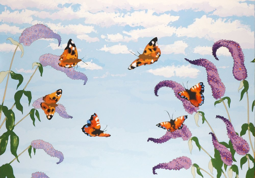 Butterfly Ring oilpainting on board by artist Faisal Khouja