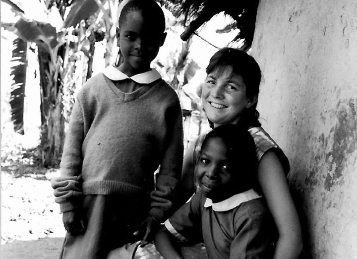 The author, circa 1988, Maragoli, Kenya, with two of my rising young academics