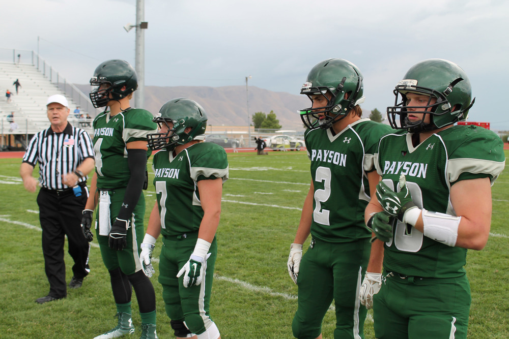 Pictured: L-R: PHS football captains Dalton Baker, Phill Perez, Dannel Brown, and John Harmon;