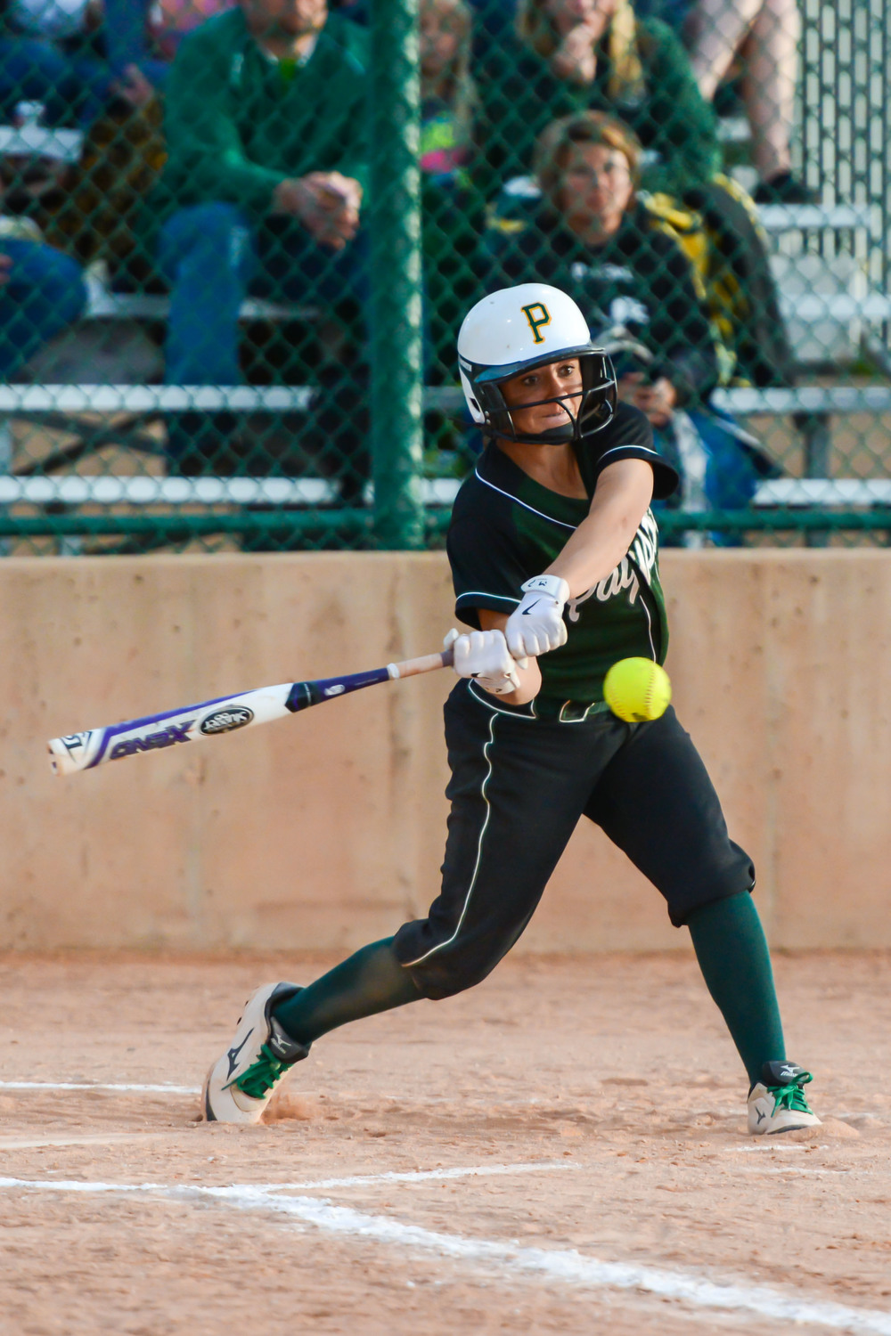 Bailee Kay of Payson hitting against Gunnison Valley.  Photo by Todd Phillips: See www.PicMe.Shining.com for more