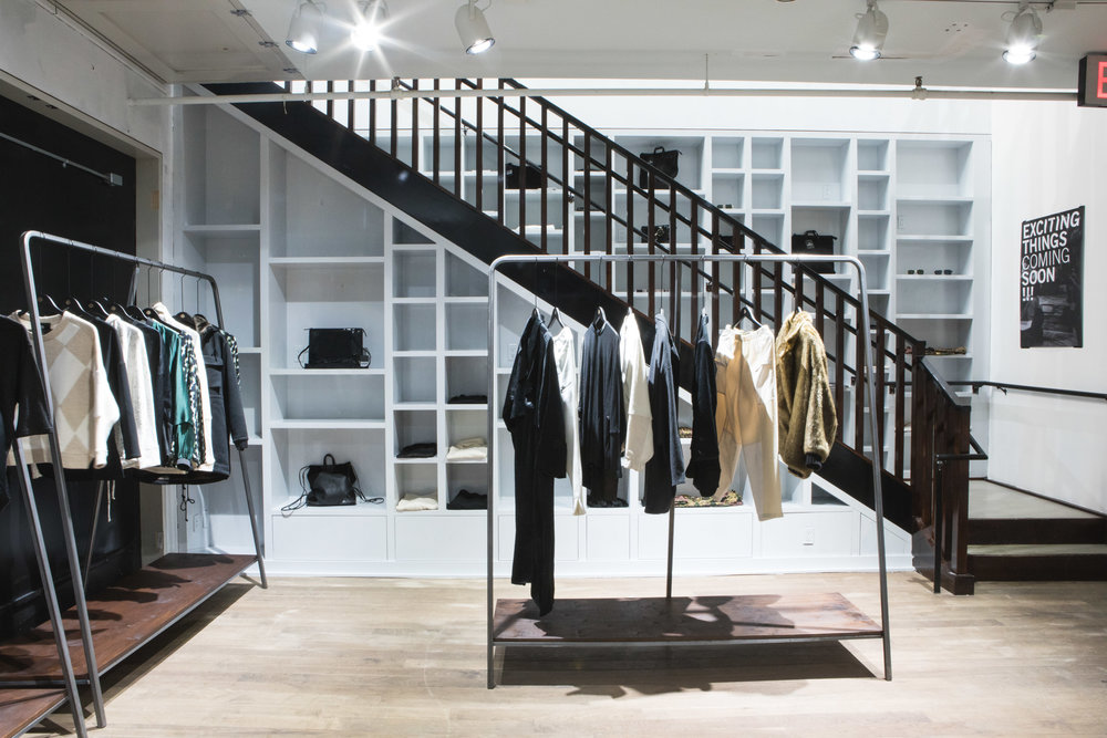 rack or shelf space basement CLOTHES ACCESSORIES SHOES OBJECTS rack space approx 1 - 1.7M shelf space approx. 1 x 1.5 x 0.3 m 500 usd / month