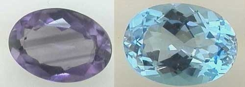 "Windowing in a gemstone. Note the very pale area in the middle of the gem that you can ""see through"""