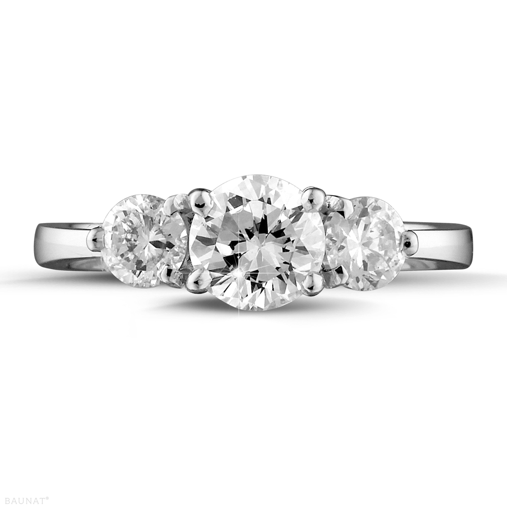 Fine Rings Honest 1.5ct Pear Cut Diamond Trilogy Elegant Engagement Ring 18k White Gold Finish Do You Want To Buy Some Chinese Native Produce? Jewelry & Watches