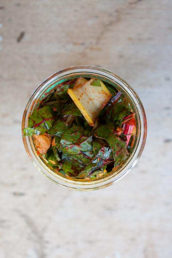Swiss Chard Kimchi