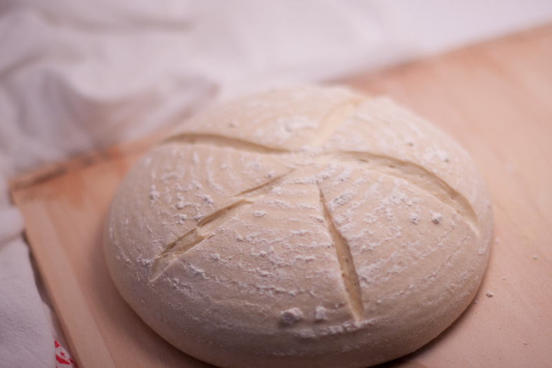 Score your loaves with a knife or lame to aid the bread's expansion