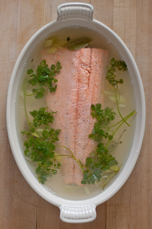 Spring Herb Slow Poached Wild Coho Salmon