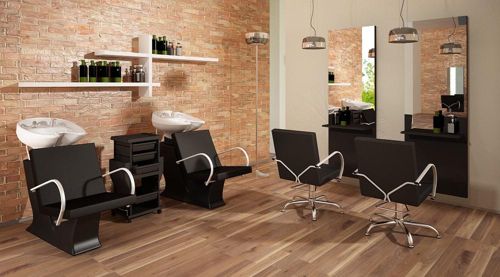 Wizualizacja mebli fryzjerskich-kolekcja Eve