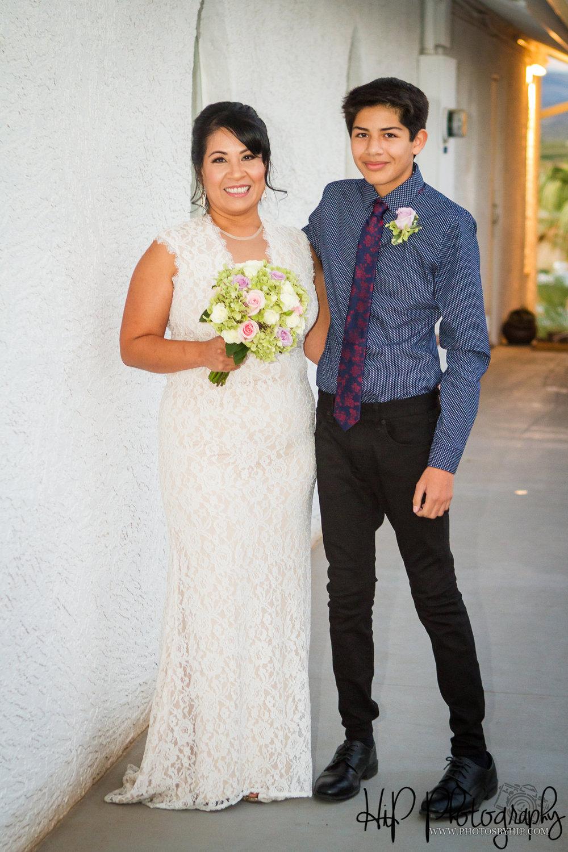 bride and son Arizona