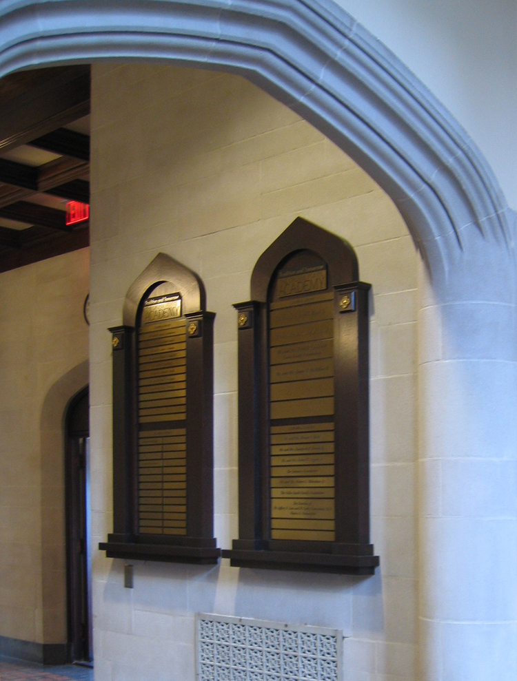 GROSSE POINTE ACADEMY: Donor Wall