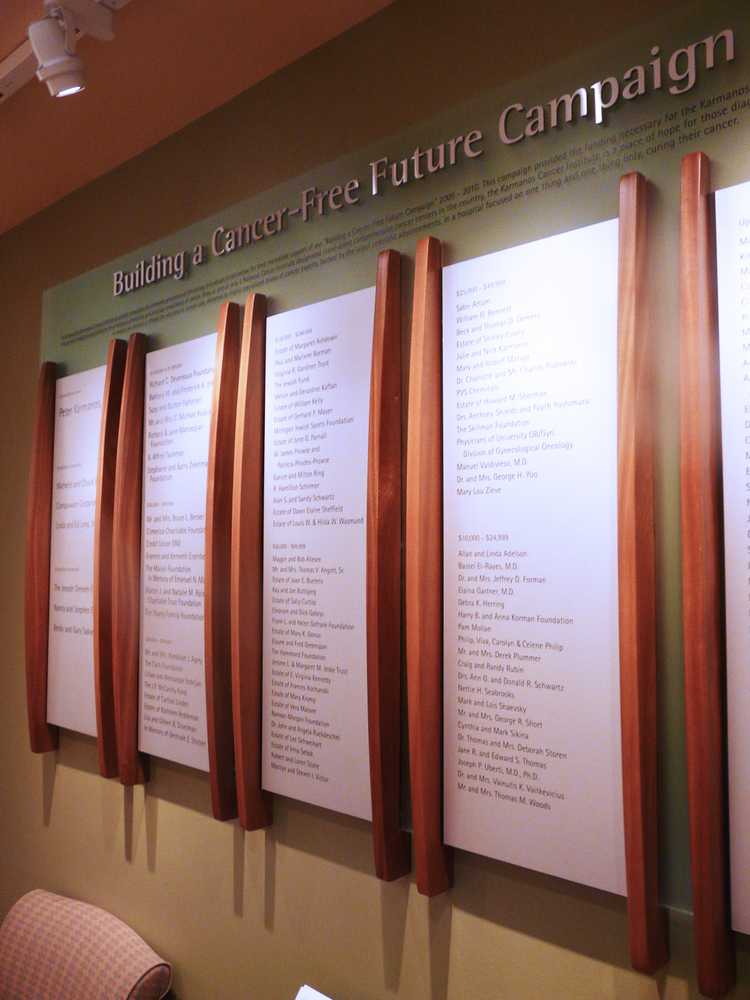 KARMANOS CANCER CENTER: Donor Wall
