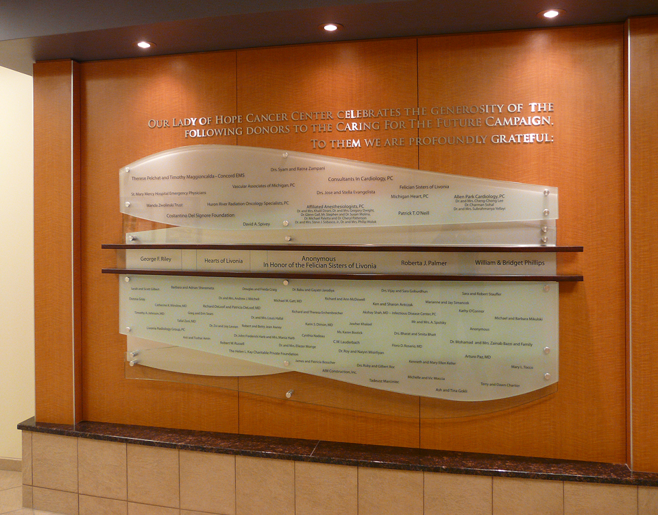 ST. MARY MERCY HOSPITAL DONOR WALL