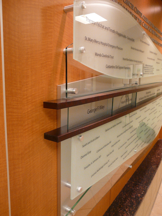 Cancer Center Campaign Donor Wall