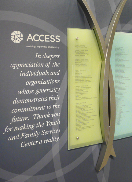 ACESS: Donor Recognition Wall