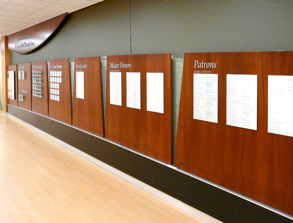 ST. MARY MERCY HOSPITAL: Accumulative Donor Wall