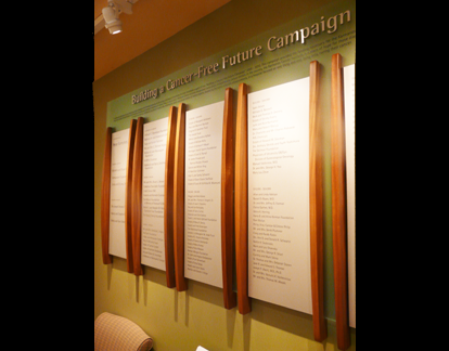Cancer Center Donor Wall