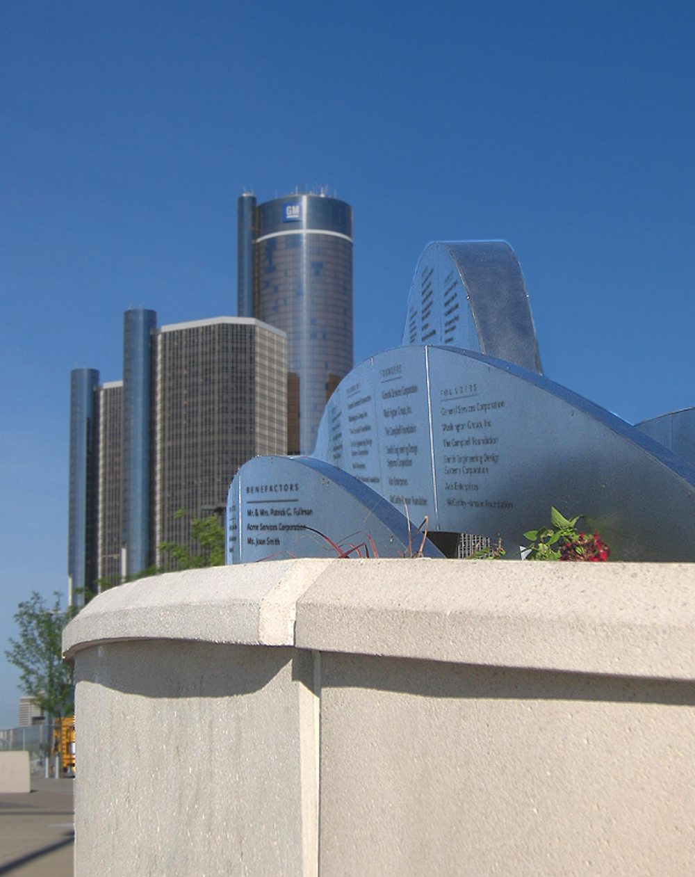 DETROIT RIVER WALK: OUTDOOR DONOR WALL