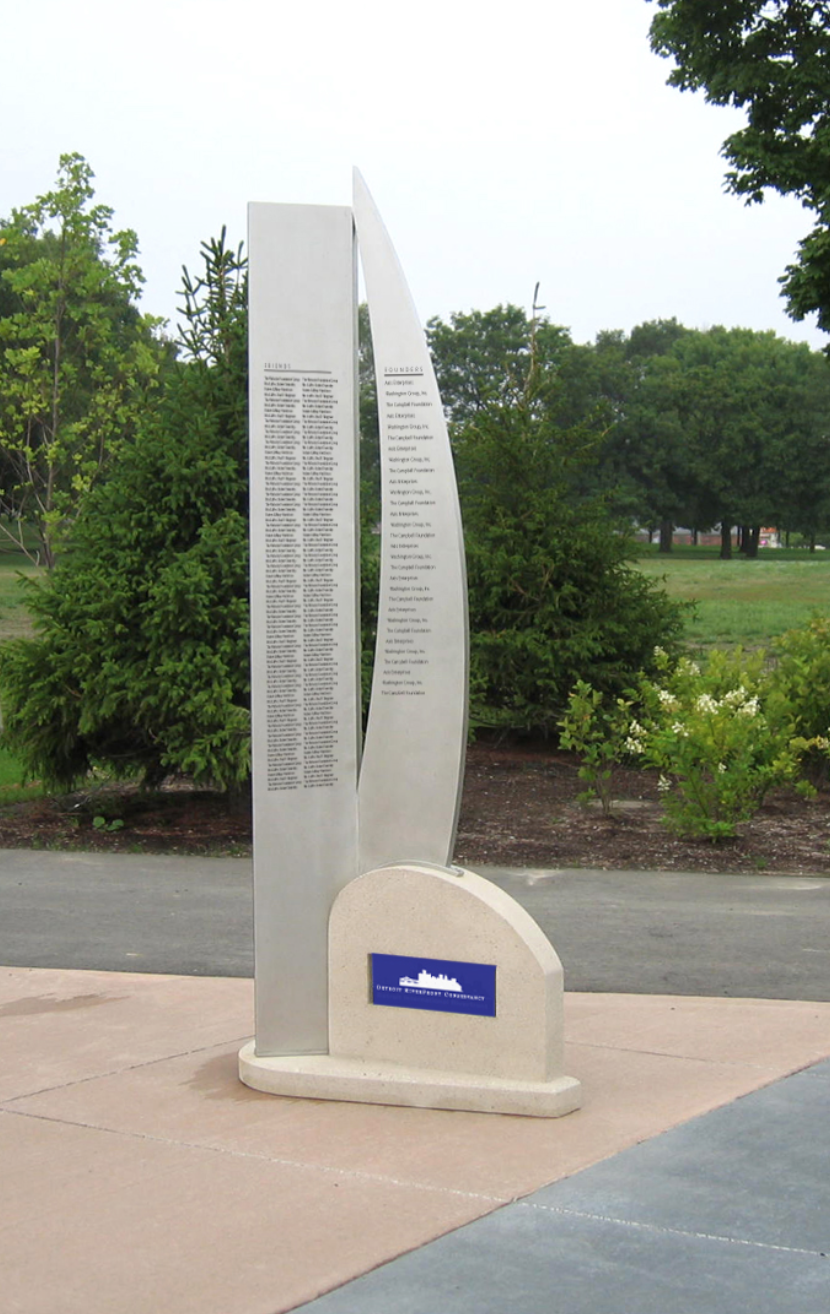 DETROIT RIVER WALK: Donor Recognition Sculpture