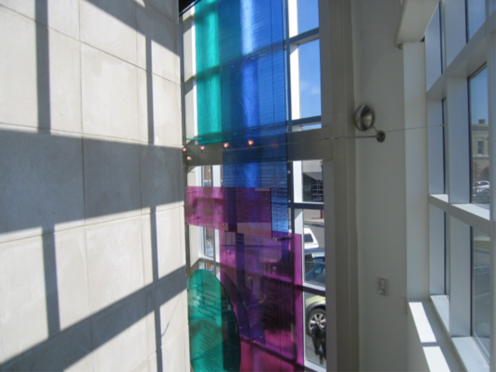 Anton Art Center: Glass Donor Wall