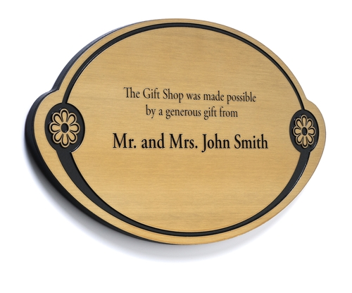Brass Metal Donor Plaque — DonorSigns.com