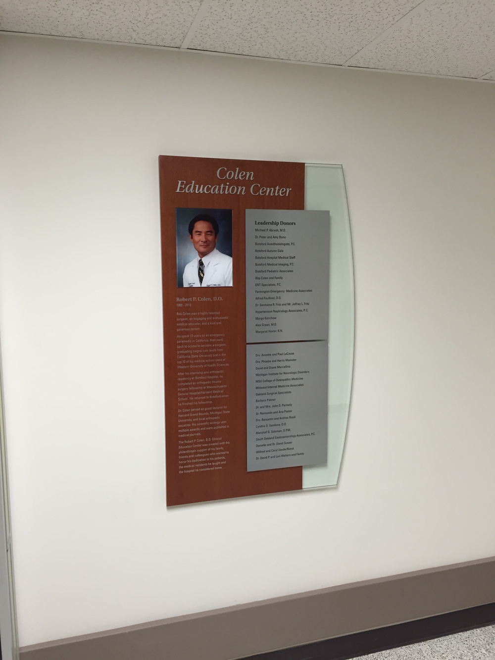 Botsford Hospital Donor Wall