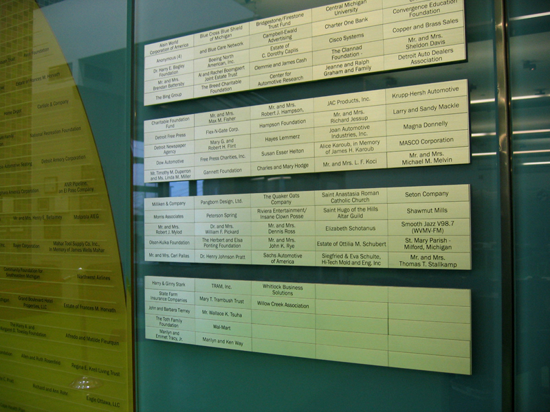 Children's Donor Wall
