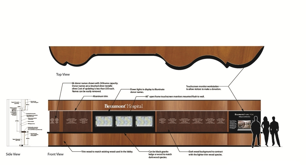 Healthcare Donor Wall Concept