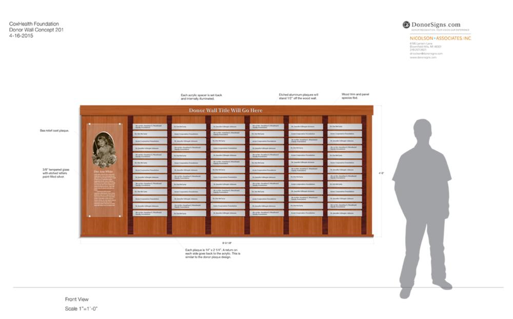 Elegant Wood & Metal Donor Wall