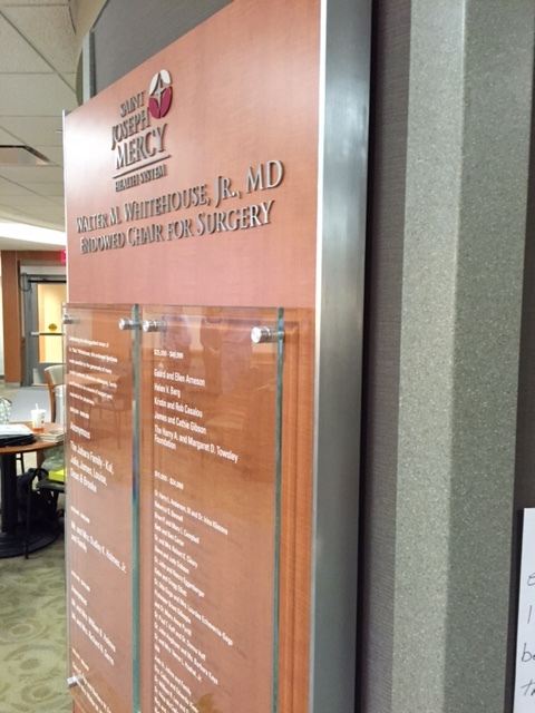 St. Joseph Hospital Recognition Wall