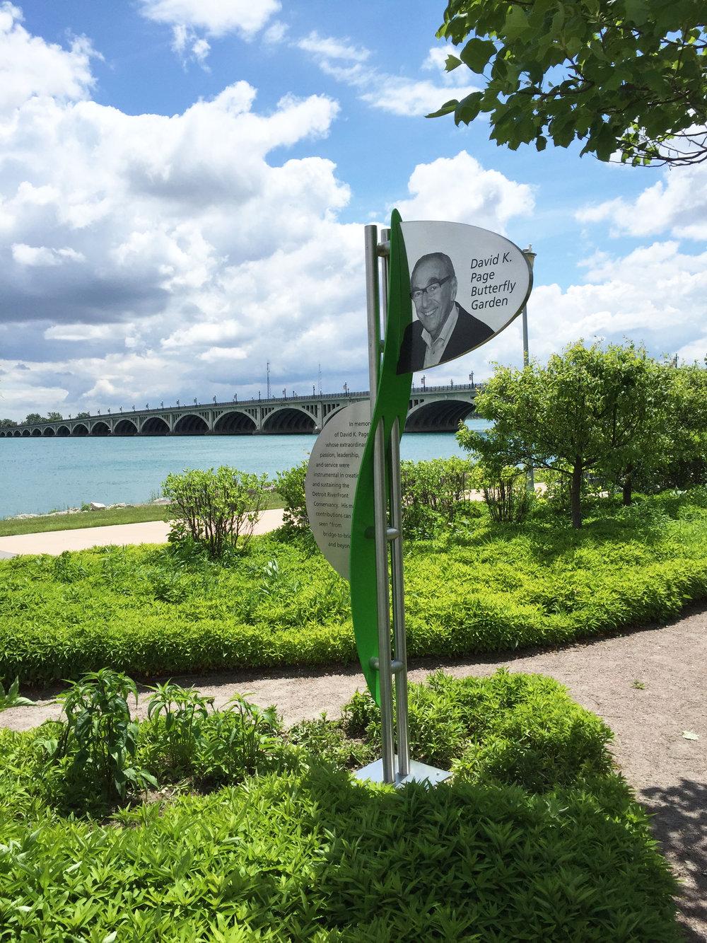 Detroit Riverfront Garden Plaque