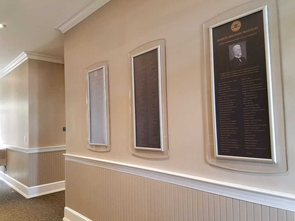 Military Donor Wall