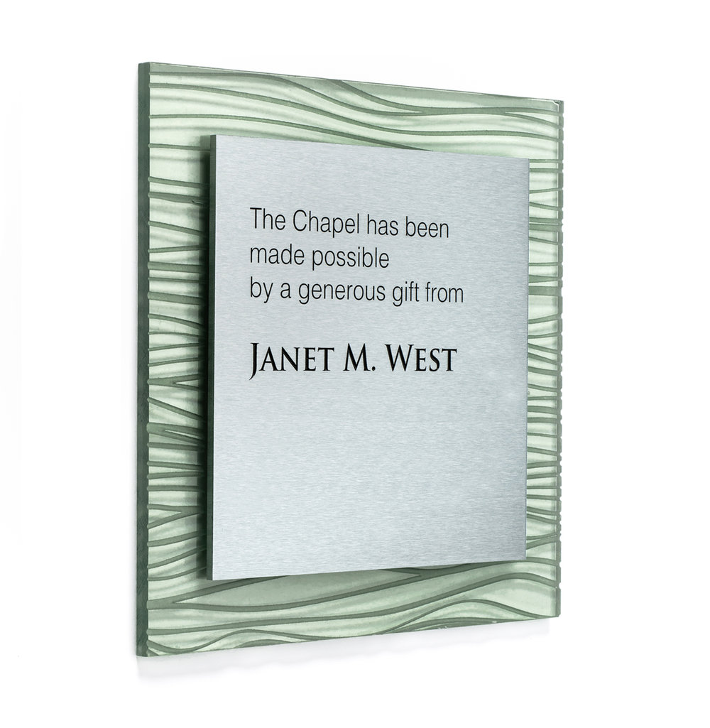 Best for: Recognizing individual donors, plaques created from leading designers.