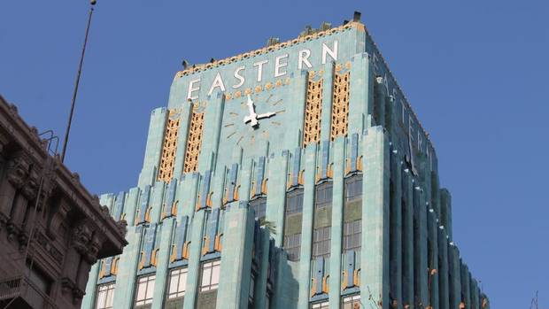 Turquoise survivor  The majestic Eastern Columbia Building was one of the first office towers to be converted into residential units. Johnny Depp was purportedly one of the first occupants of this updated art deco beauty.