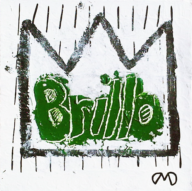 Brillo    acrylic on canvas 12 in x 12 in - sold at auction -