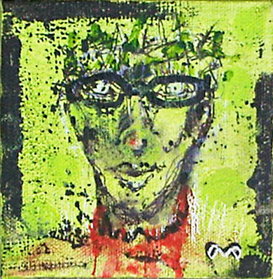 Ambiguous Andy  (2013) acrylic on canvas 4 in x 4 in •sold