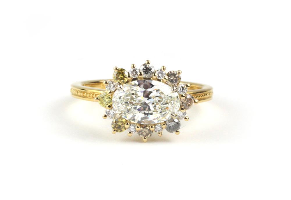 Multi Color Diamond Ring