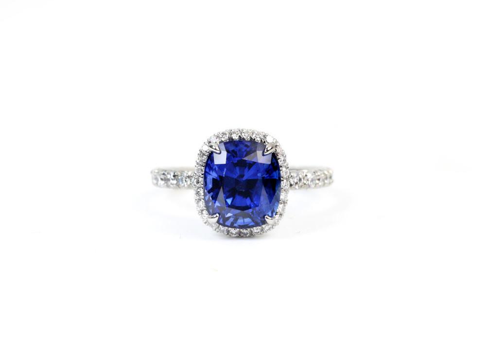 Sapphire Surround Ring