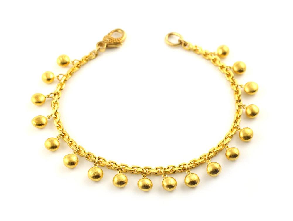 24kt Gold Little Nugget Bracelet - Made to Order