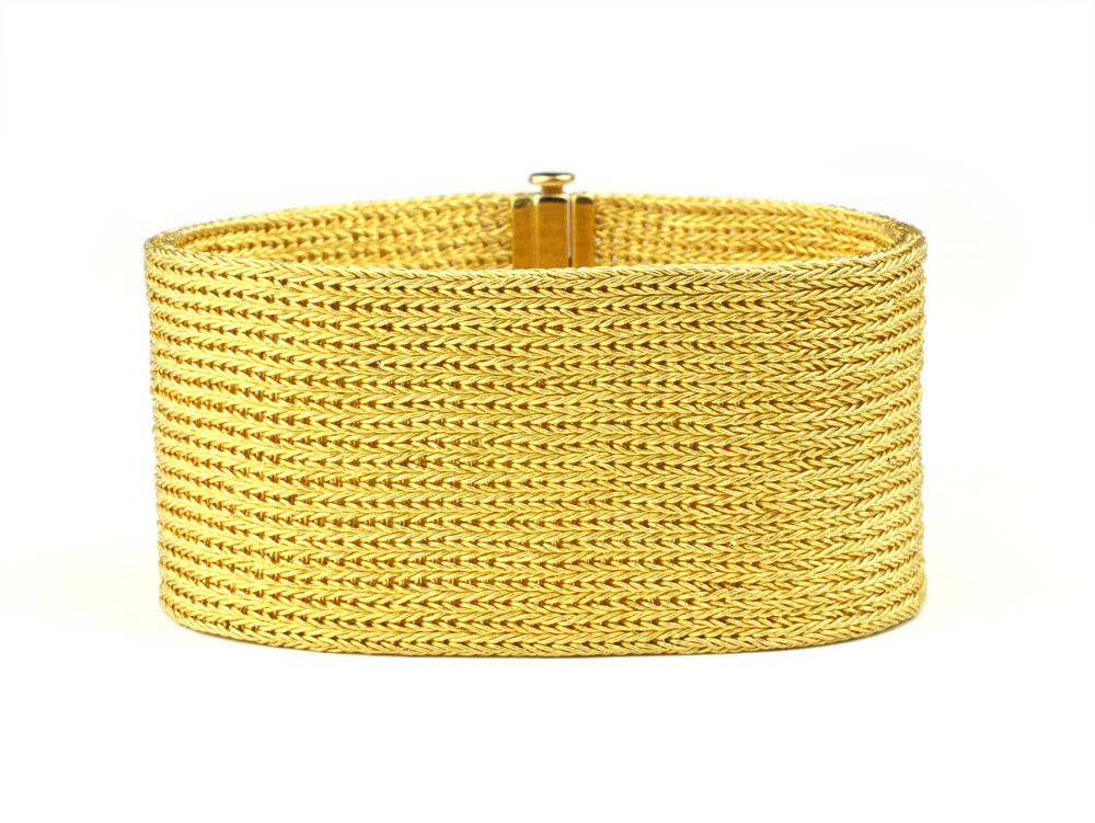 22kt Woven Gold Bracelet Made to Order