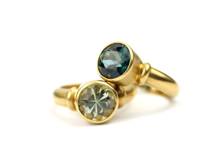22kt Gold and Tourmaline Ring Purchase Top Ring on 1st Dibs